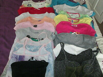 Collection Of 18 Girls T/Shirts Peppa Pig Rosie & Jim Frozen Tankini's