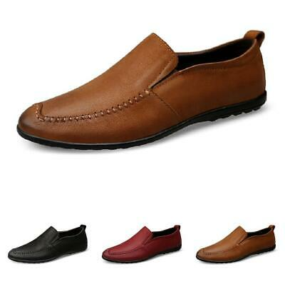 Mens Driving Moccasins Shoes Slip on Loafers Soft Comfy Breathable Non-slip New