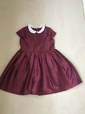 Girls Christmas Party Dress Age 5-6 Marks And Spencer