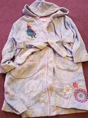 Girls Blue Frozen Towling Dressing Gown Age 4 years