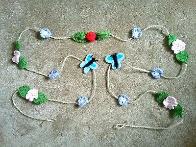 Handmade garland/bunting for children or adults butterfly/ladybird/flowers