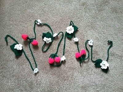 Handmade garland/bunting for children or adults strawberries/flowers