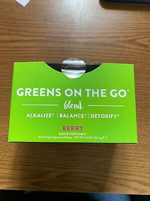 It Works! Greens on the Go Blend Packets - Berry Flavor - Unopened Exp 11/2020