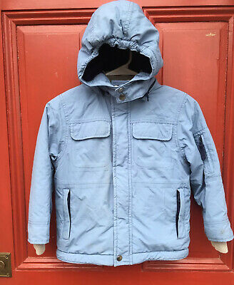 Mini Boden Girls Or Boys Pale Blue Ski Winter Coat Size 5 6 GUC