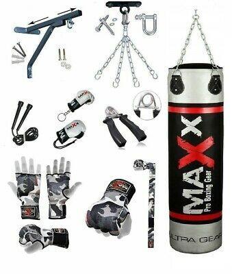 Maxx 5,4,3 FT Filled Heavy Punch Bag Buyer Build Set,Chains,Bracket,Boxing Bag