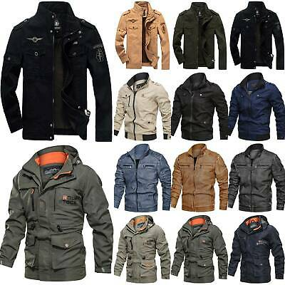 Men's Military Army Cargo Jacket SOFT SHELL Outdoor Combat Tactical Coat Winter