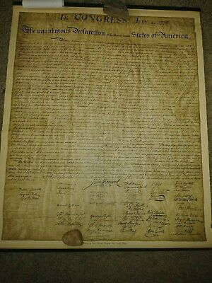 Declaration Of Independence Theo W. Ohman Original Reproduction 32 × 26