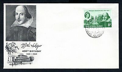 Turks & Caicos Islands - 1964 Shakespeare First Day Cover