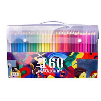 Laconile 160 Oily Art Coloured Pencils Vibrant Colors Pre-Sharpened Coloured Pen