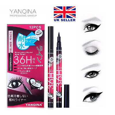 New Yanqina Black 36H Waterproof Pen Precision Liquid Eyeliner Eye Liner MakeUp