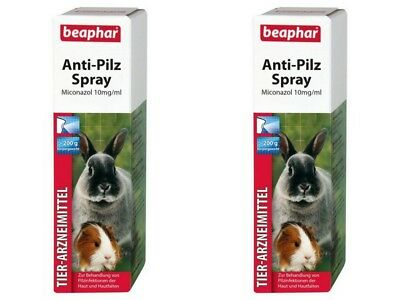 2X Beaphar Anti Seta Spray 50ML Pilzspray Roedor Conejo Cobaya