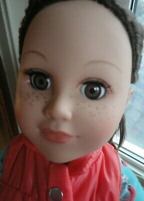 """18"""" Cititoy doll - My Life as... - brunette - brown eyes - freckles - dressed"""