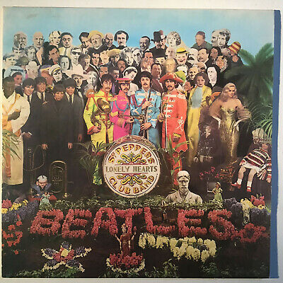THE BEATLES Sgt Pepper's Lonely Hearts Club Band UK Parlophone Pop LP & Insert