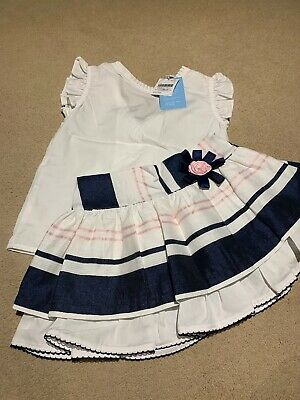 Girls Spanish Foque 2 Piece Set Of Top And Skirt Age 6 Years. Brand New With Tag