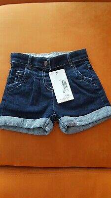 Baby Girl 18-24 Months Denim Shorts Marks And Spencer Brand New