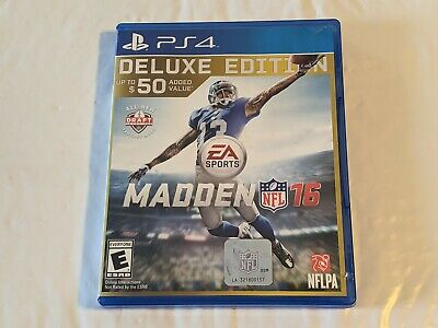 deluxe edition MADDEN NFL 16 Playstation 4 PS4 w/ case & paperwork 2016 football