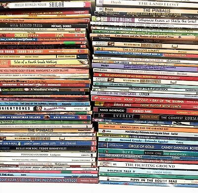 Lot of 10 Mixed Lot of Kids Chapter Books Ages 8 -11 - MIXED UNSORTED