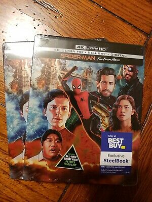 BRAND NEW Spider-Man: Far From Home Steelbook- 4K UHD /Blu-ray /Digital *SEALED*