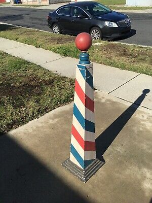 Antique Square Barber Pole, Early 1900s