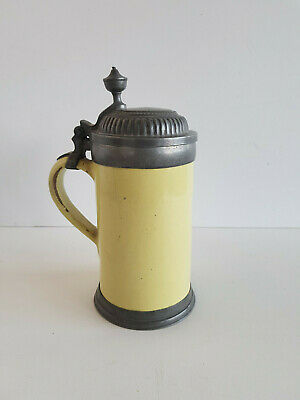 Faience Jug with Tin Outfit Probably Schrezheim um 1780 Height 24 CM