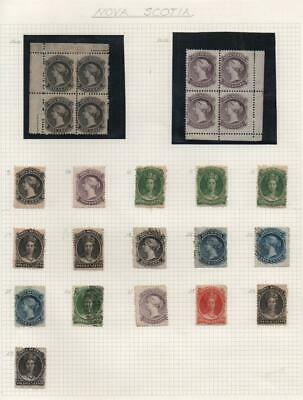 NOVA SCOTIA: Queen Victoria Examples - Ex-Old Time Collection - Page (28560)