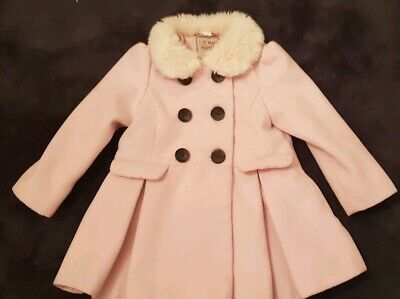 Girls Next Coat Age 2-3 Years Pink Fur Winter Clothes