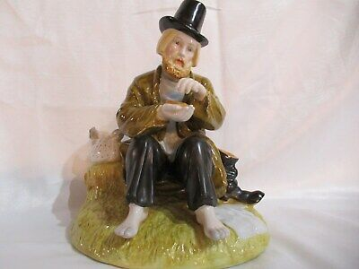 Hand Painted Russian Porcelain Figurine Tramp Gardner Factory