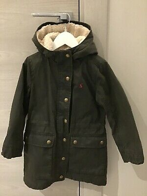 Joules Girls Wax Jacket Style Coat Size 5 Years