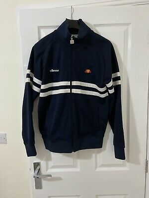 Ellesse Navy Blue mens tracksuit zip top size Medium perfect condition
