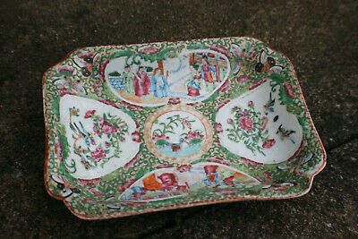 19th Century Antique Chinese Porcelain Hand Painted Famille Rose Plate