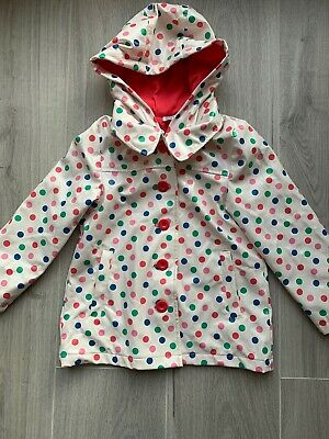 Girls Spotty Rain Coat Age 4-5
