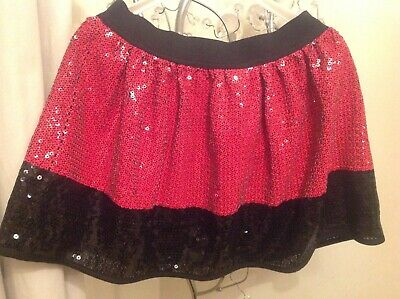 Marks and Spencer limited collection   kids 10YRS ,black and red ,SEQUIN SKIRT