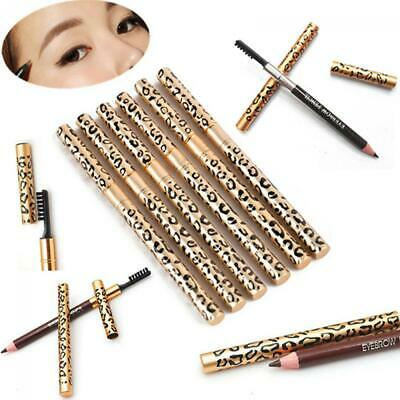 Waterproof Long-Lasting Women Makeup Brush Eyebrow Pencil Leopard Eyeliner
