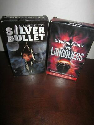 Stephen King's The Langoliers & Silver Bullet VHS Lot