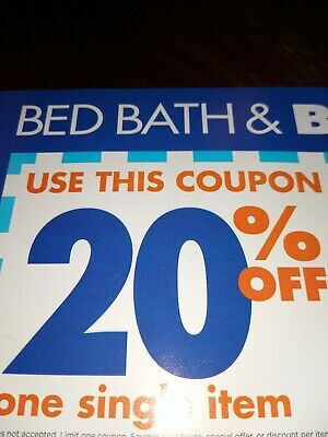 1 - Bed Bath Beyond 20% off 1 Item***Online Coupon ***Exp 2/3/20***Free Shipping