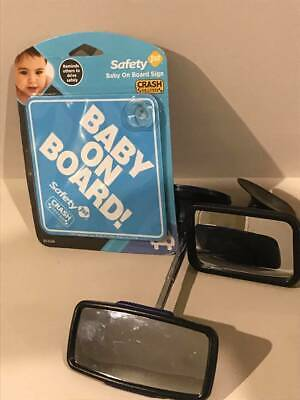 Baby On Board Sign And Baby Back Seat Mirrors