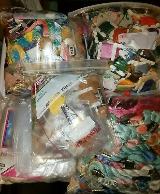 Large Lot Of Floss Cross Stitch Embroidery