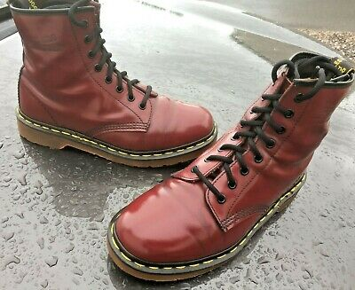 Vintage Dr Martens 1460 cherry boots UK 7 EU 41 Made in England