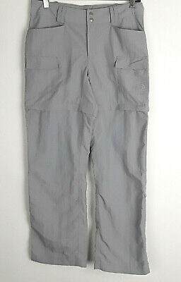 North Face Women's Light Grey Convertible Hiking Outdoor Pants Size 6