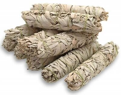 """Pure Large White Sage Smudge Stick House Cleansing Energy 8"""" 9"""" inches NON GMO"""