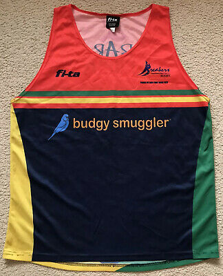 Gold Coast Breakers Rugby Union Club Budgy Smuggler Singlet - Mens Size 2XL