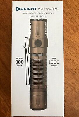 New Desert Tan Olight M2R Warrior Pro Tactical Rechargeable Flashlight Edc