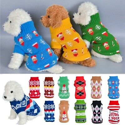 Pet Dog Knitted Sweater Chihuahua Warm Knitwear Clothe Puppy Jumper Coat Jacket