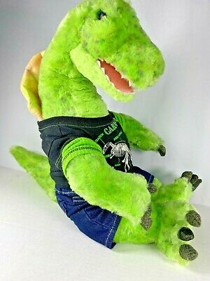 Build a Bear Spinosaurus Green Dinosaur + Clothes Stuffed Plush - Retired - BABW