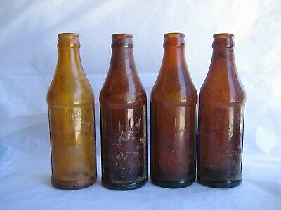 Vintage Certo bottles with measurements Amber Qty 4 Apothecary Rx Pharmacy