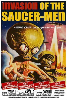 INVASION OF THE SAUCER-MEN CLASSIC MOVIE POSTER 24x36-53183
