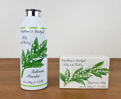 Vintage Crabtree & Evelyn Lily of the Valley Talcum Powder 100g 3.5 Oz & Soap