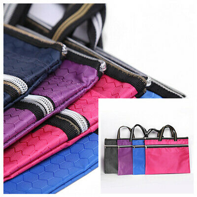 1PC Portable File Bag Zipper Bag Waterproof Folder Information Bag Thicken