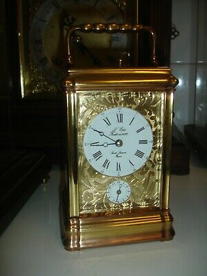 """L""""Epee Repeater Alarm Carriage Clock Rare Mask Dial"""