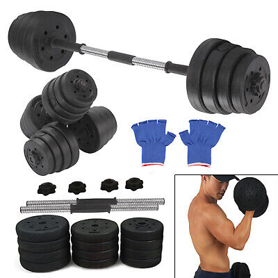 Fitness 30Kg Dumbells Pair of Weights Barbell/Dumbbell Body Building Set